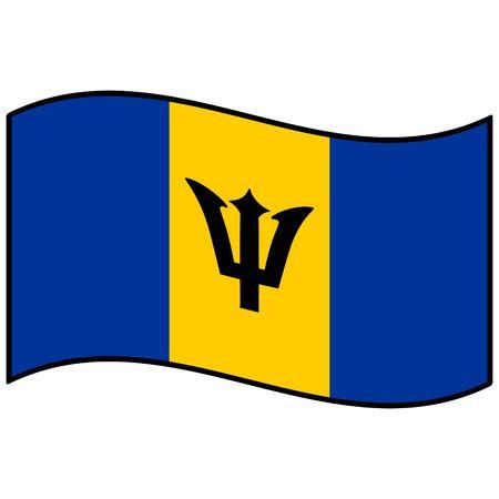 barbados: Flag of Barbados Illustration