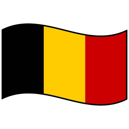 belgium: Flag of Belgium Illustration