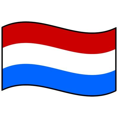 netherlands: Flag of Netherlands Illustration