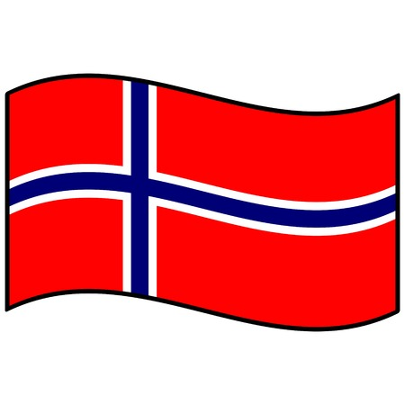 norway: Flag of Norway Illustration