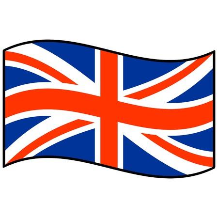 Bandera de Reinos Unidos Foto de archivo - 57450137