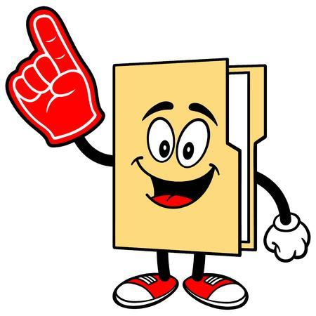 Folder Mascot with Foam Finger