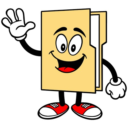 Folder Mascot Waving