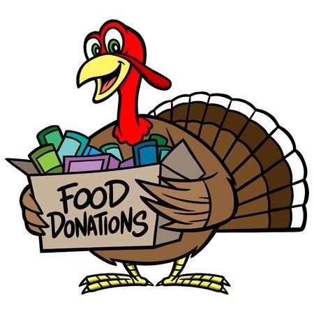 charity work: Food Donation Illustration