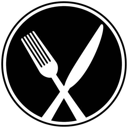 lit collection: Fork and Knife Cross Symbol Illustration