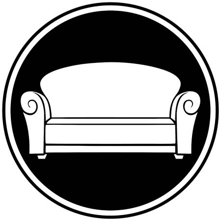 furniture store: Furniture Store Symbol Illustration