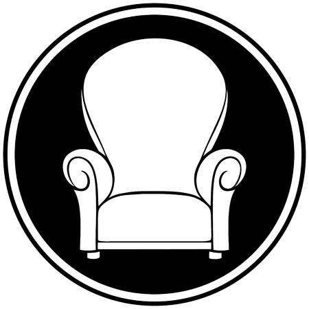 shop furniture: Furniture Shop Symbol Illustration