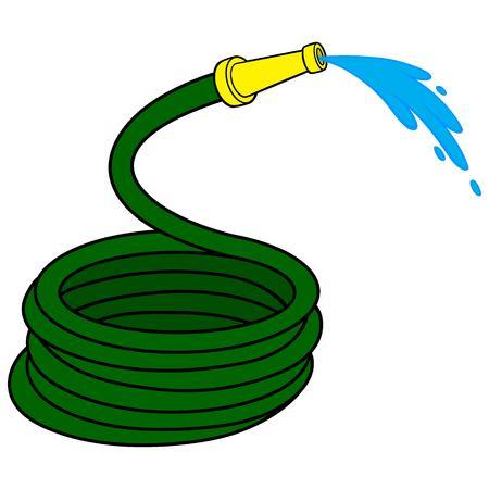 water hose: Garden Water Hose Illustration