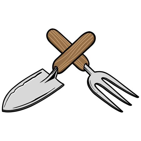 Gardening Tools Stock Illustratie
