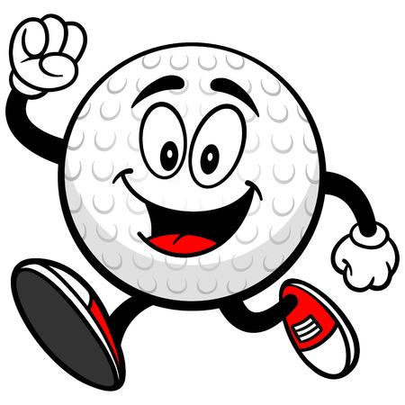 Golf Ball Runing Ilustrace