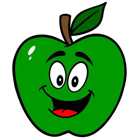 Green Apple-Maskottchen Standard-Bild - 57535290
