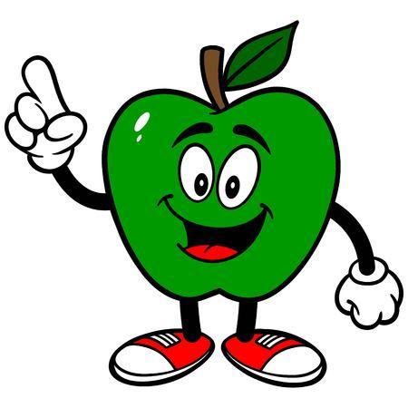 talking: Green Apple Talking Illustration