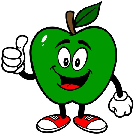 Green Apple with Thumbs Up