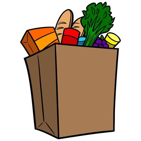 식료품 가방 일러스트