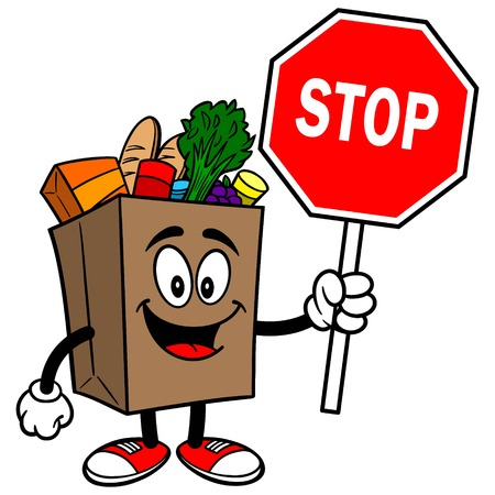 Grocery Bag with Stop Sign