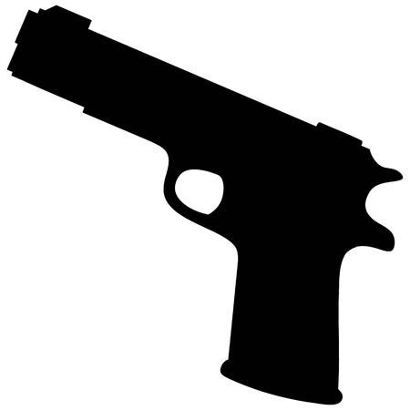 handgun: Handgun Silhouette Illustration