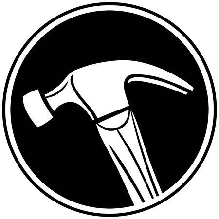 Hammer Symbol Ilustração