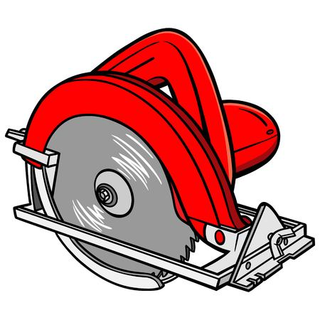 hand held: Hand Held Circular Saw Illustration