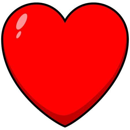 Cartoon Heart Ilustração