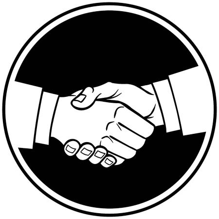equal opportunity: Handshake Insignia