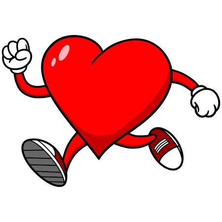 running: Heart Running Illustration