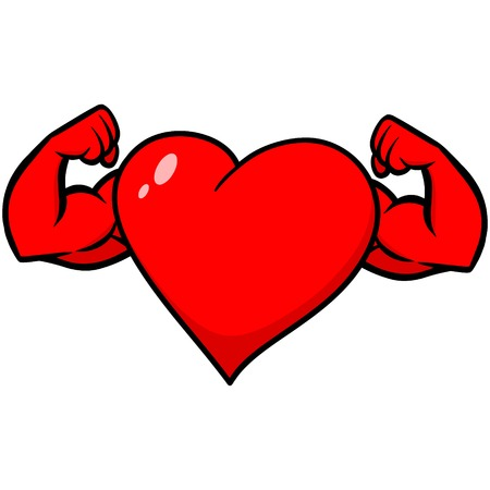 pumped: Heart with Strong Arms Illustration