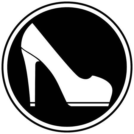 High Heel Icon Illustration