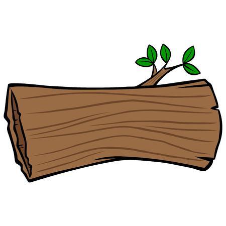 Hollow Tree Trunk Ilustracja