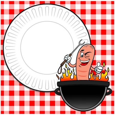 party invite: Hot Dog Party Invite Illustration