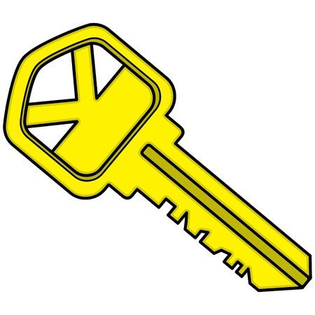 Key-House Stock Illustratie
