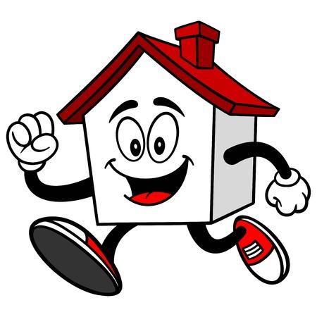 running: House Running Illustration