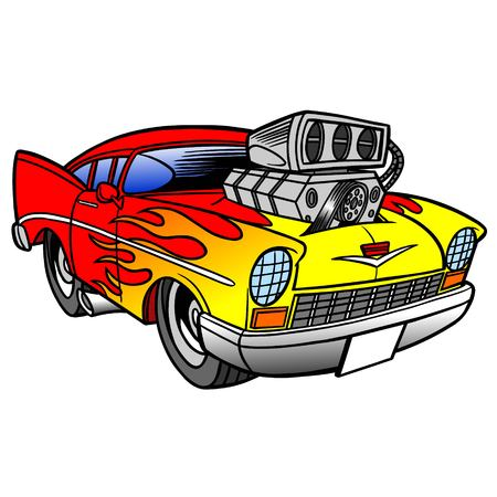 hot rod: Hot Rod Illustration