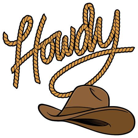 Howdy Cowboy Rope and Hat