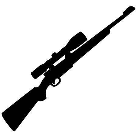 Hunting Rifle Silhouette Иллюстрация