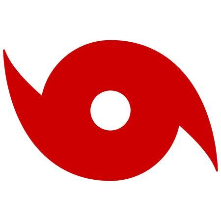Hurricane Symbol Illusztráció