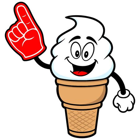 indulgence: Ice Cream with Foam Finger Illustration