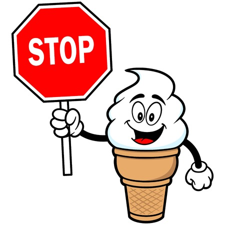 indulgence: Ice Cream with Stop Sign