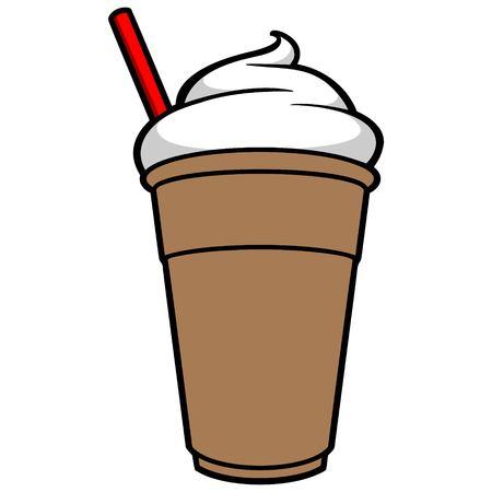 food and drinks: Iced Coffee Illustration