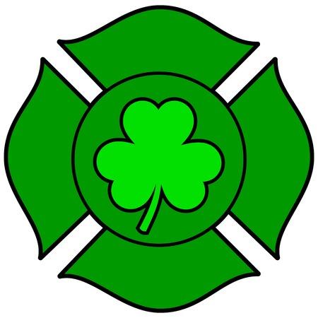 irish: Irish Firefighter Maltese Cross