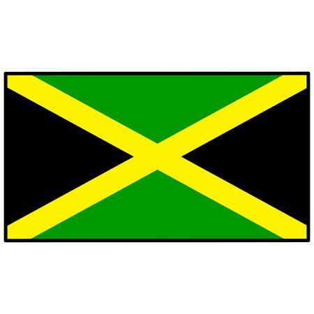 Jamaica Flag Illusztráció