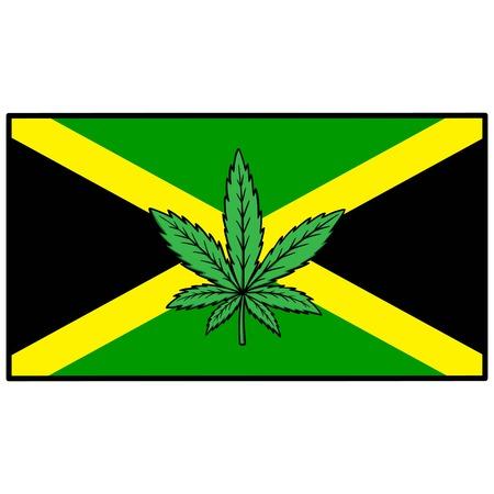 substances: Jamaica Flag with Marijuana