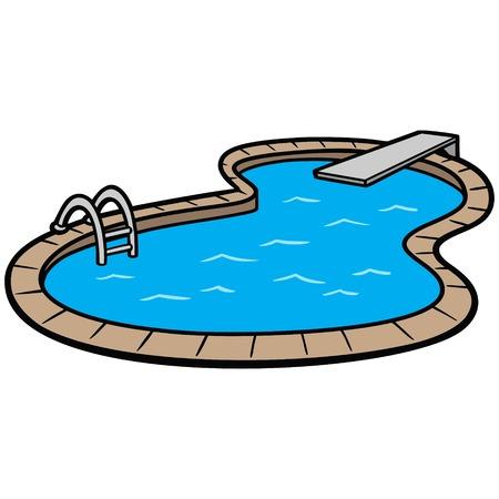 In Ground Swimming Pool Illustration