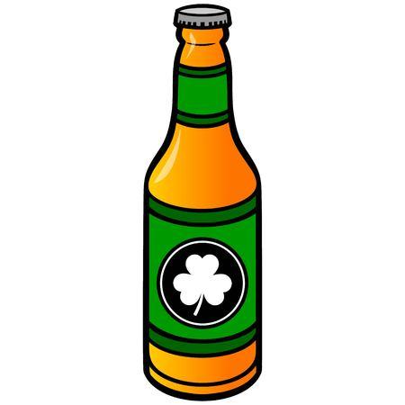 irish pub label design: Irish Beer Bottle