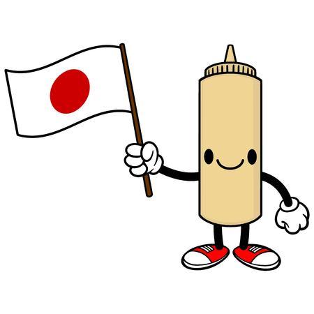 日本の旗日本のマヨネーズ