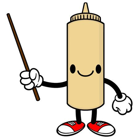 spicy mascot: Japanese Mayo with a Pointer