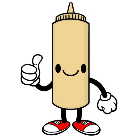 spicy mascot: Japanese Mayo with Thumbs Up