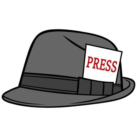 Journalist Hat Illustration