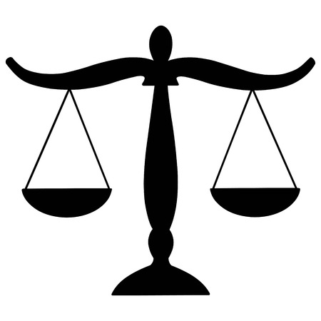 courthouse: Justice Scales Illustration
