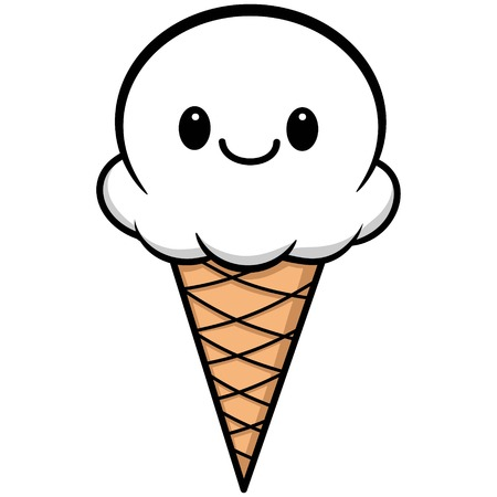 kawaii: Kawaii Ice Cream Illustration