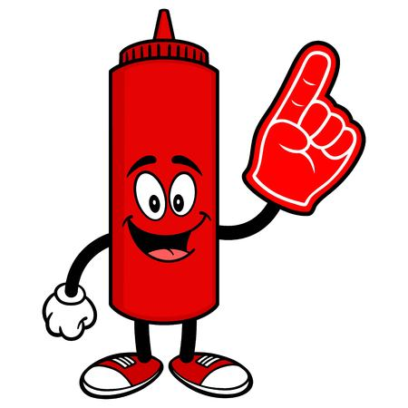 foam: Ketchup with a Foam Finger Illustration